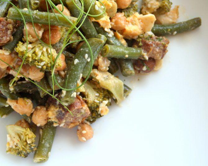 Broccoli, Bean, and Sausage Salad