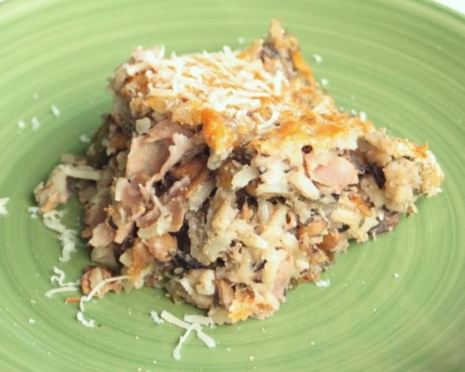 Mushroom, Lentil, & Rice Bake