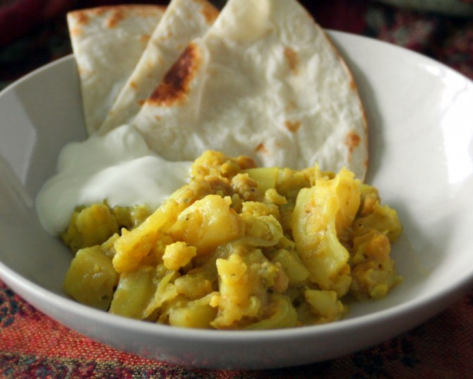 Cauliflower + Cabbage Bhaaji