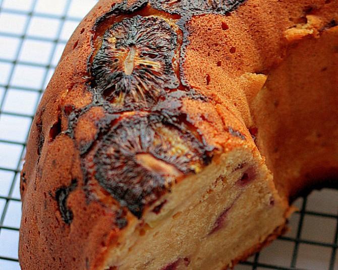 Kiwi Raspberry Pound Cake