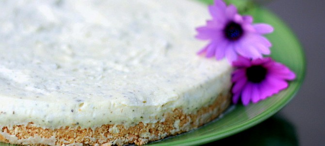 Lemon Myrtle No-bake Cheesecake