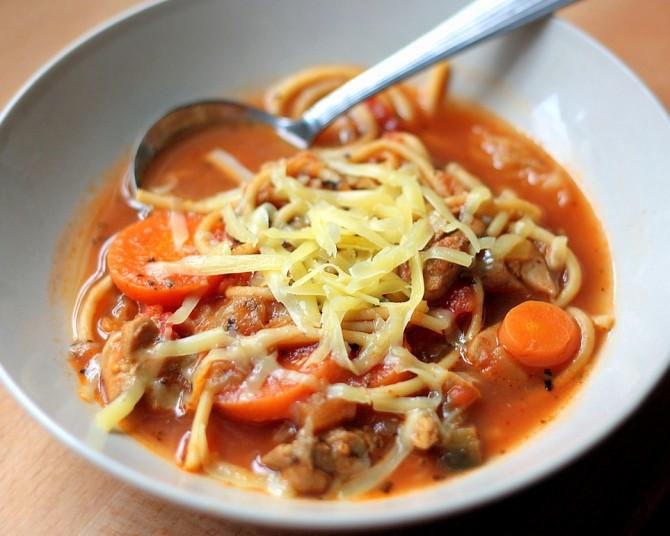 Eggplant Tomato Soup